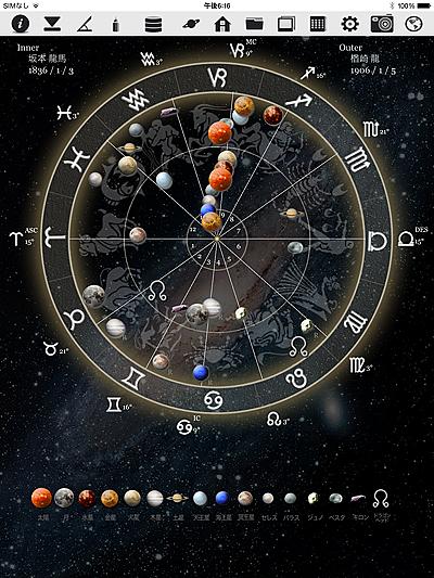 ホロスコープ 時空 ホロスコープ時空 iPhone iPad アプリ 作成 占術師 占星術師 占星術 オプション 写真 CONPATI