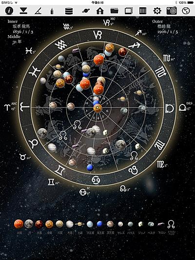 ホロスコープ 時空 ホロスコープ時空 iPhone iPad アプリ 作成 占術師 占星術師 占星術 オプション 写真 PROGRESS