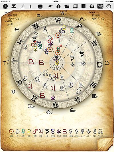 ホロスコープ 時空 ホロスコープ時空 iPhone iPad アプリ 作成 占術師 占星術師 占星術 オプション サイン PROGRESS